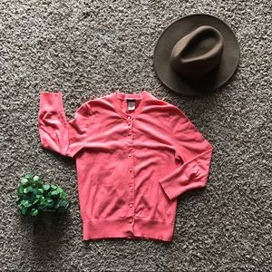 J.Crew Cotton Button Up Cardigan